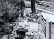 Chester Bowl, pond construction, June 1971