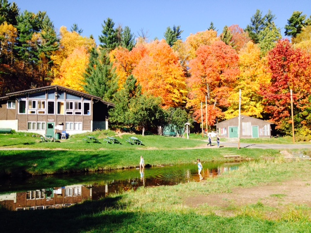 Chalet in fall