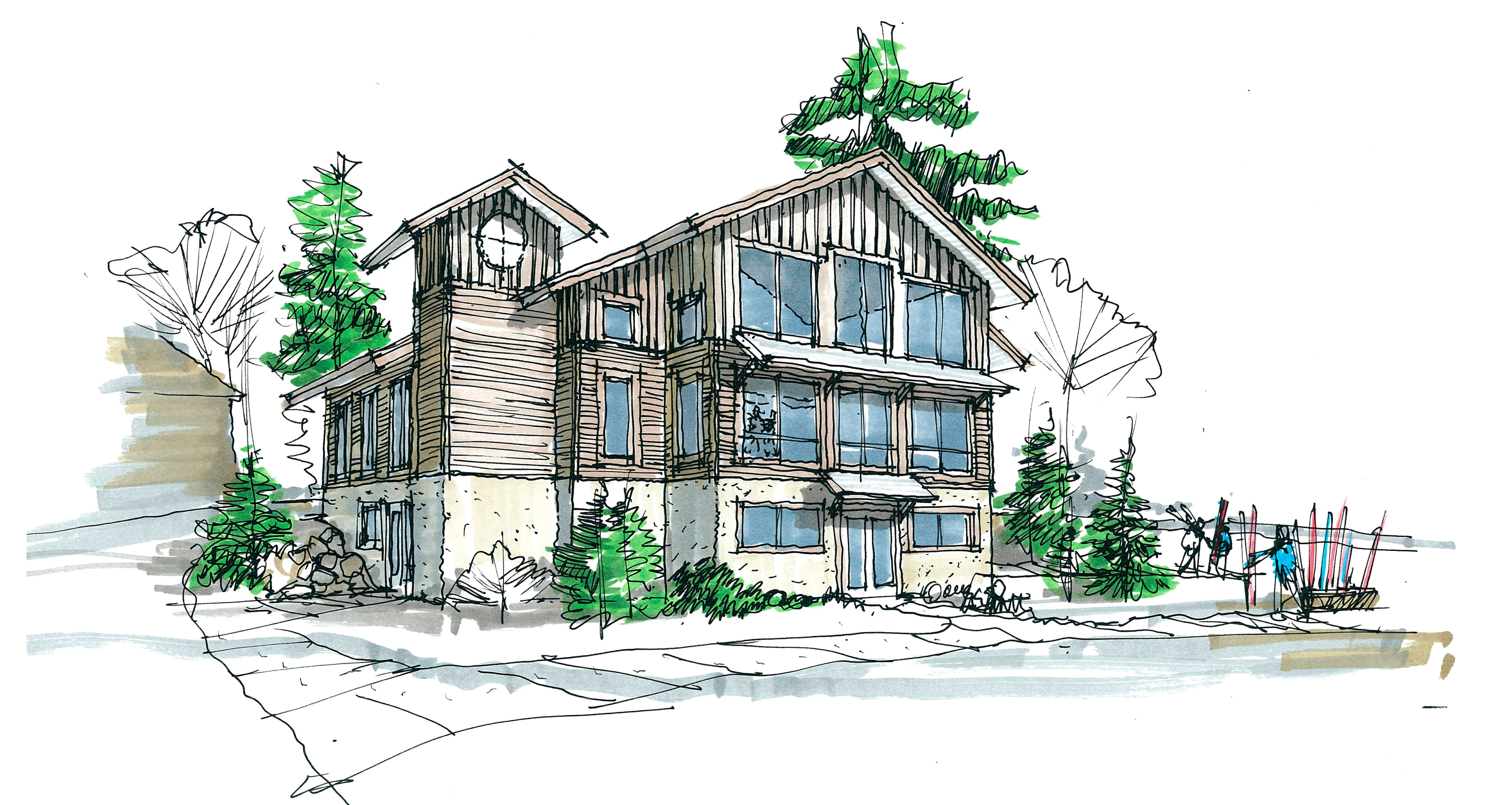 chalet drawing